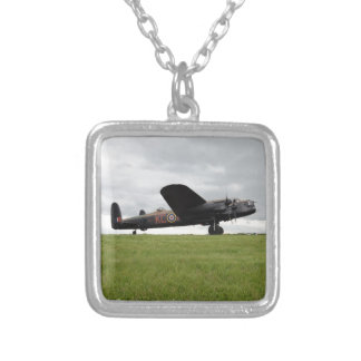 Avro Lancaster On The Field Silver Plated Necklace