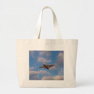 Avro RJ85 Jet Landing Large Tote Bag
