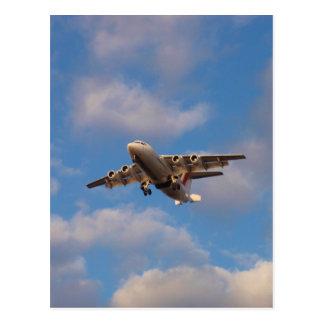 Avro RJ85 Jet Landing Postcard