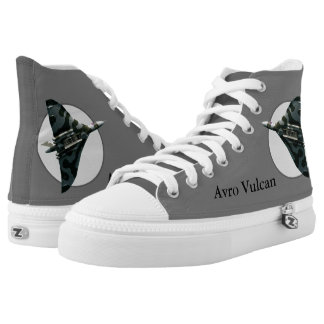 Avro Vulcan Bomber, with name and number, XH558 High-Top Sneakers