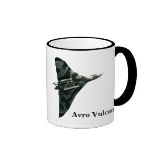 Avro Vulcan Bomber with your monogram Ringer Mug