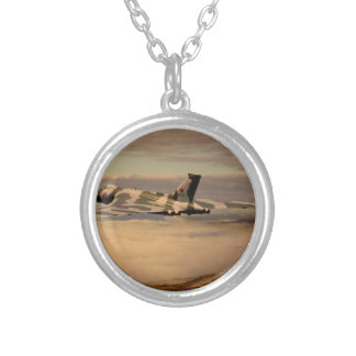 Avro Vulcan Bomber XH558 Silver Plated Necklace