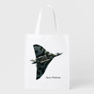 Avro Vulcan Delta Wing Bomber Grocery Bags