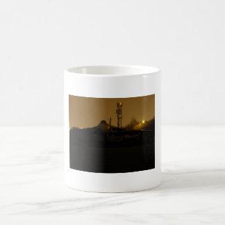 Avro vulcan night shot basic white mug