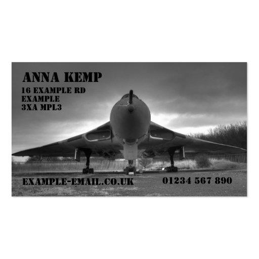 Avro Vulcan XL319 B/W Business Card