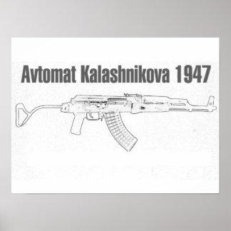 Avtomat Kalashnikova 1947 Posters