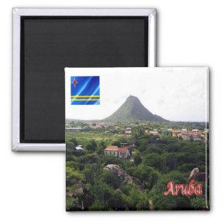 AW - Aruba - Piedra Plat a Hooiberg Von Casibari Imán Cuadrado