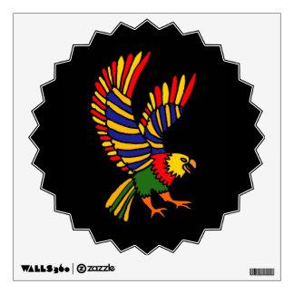 AW- Awesome Eagle Folk Art Wall Decal