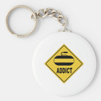AW Curling Key Chain