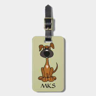 AW- Cute Brown Puppy Dog Luggage Tag