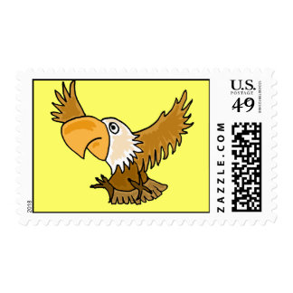 AW- Funny Eagle Postage Stamps