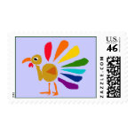 AW- Funny Turkey Cartoon Postage Stamps