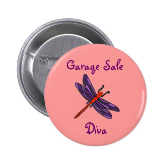 AW- Garage Sale Diva Dragonfly Button