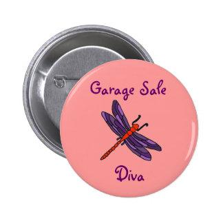 AW- Garage Sale Diva Dragonfly Button