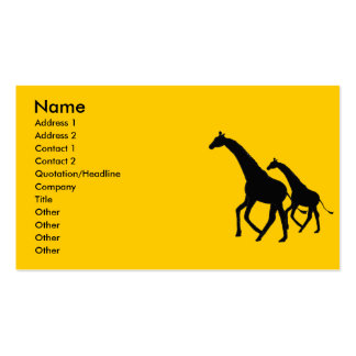 AW- Giraffe Silhouette Business Cards