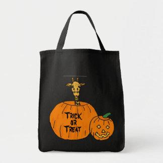 AW- Halloween Giraffe in a Pumpkin Bag