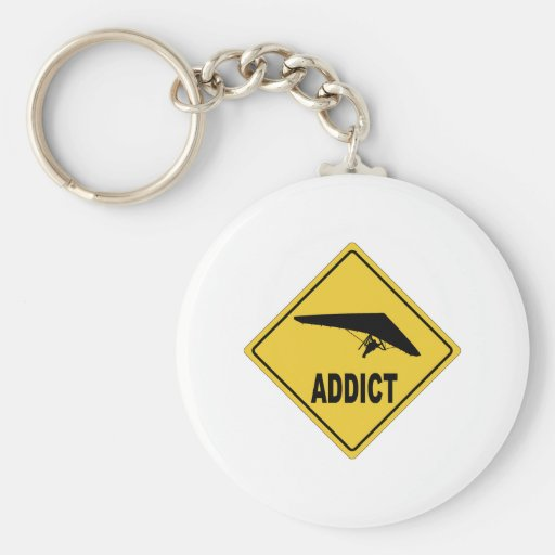 AW Hang Gliding Basic Round Button Keychain