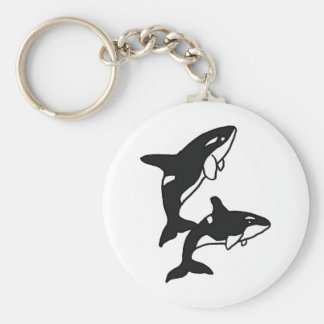 AW- Leaping Killer Whales Keychain