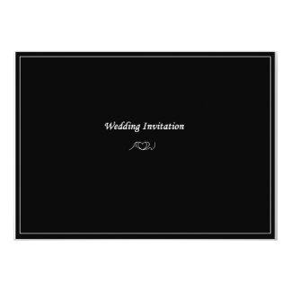 AW Monogram Wedding Invitation