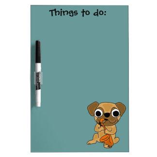 AW- Pug Playing Saxophone Dry Erase Board
