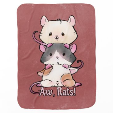Art Themed Aw, Rats! Baby Blanket