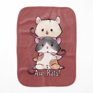 Art Themed Aw, Rats! Baby Burp Cloth