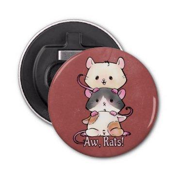 Art Themed Aw, Rats! Bottle Opener