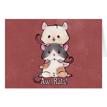 Art Themed Aw, Rats! Card