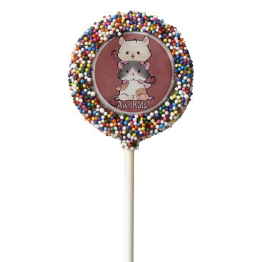 Art Themed Aw, Rats! Chocolate Dipped Oreo Pop