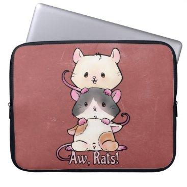 Art Themed Aw, Rats! Computer Sleeve