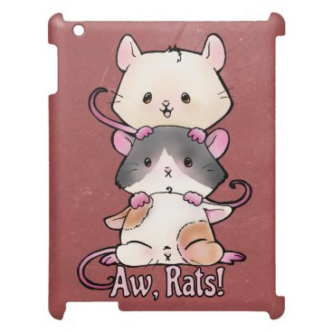 Art Themed Aw, Rats! iPad Covers