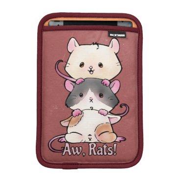 Art Themed Aw, Rats! iPad Mini Sleeve