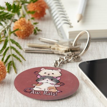 Art Themed Aw, Rats! Keychain