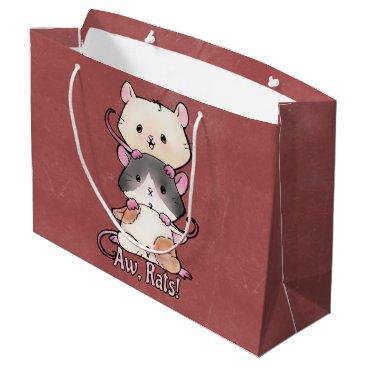 Art Themed Aw, Rats! Large Gift Bag