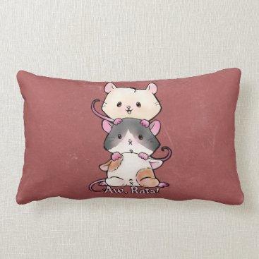 Art Themed Aw, Rats! Lumbar Pillow