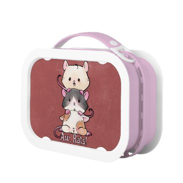 Art Themed Aw, Rats! Lunch Box