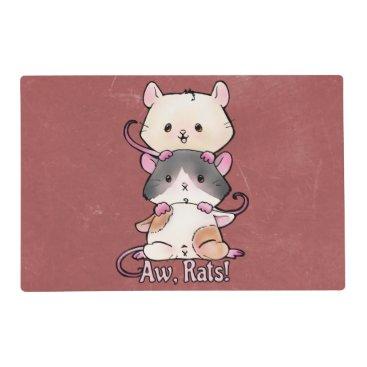 Art Themed Aw, Rats! Placemat