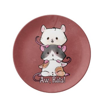 Art Themed Aw, Rats! Plate