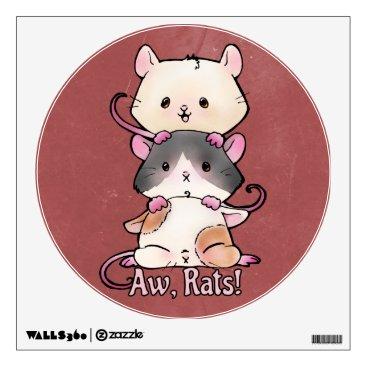 Art Themed Aw, Rats! Wall Sticker