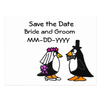 AW- Save the Date penguin Postcards