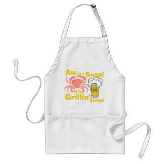 Aw... Snap! It's Grillin' Time Apron! Adult Apron