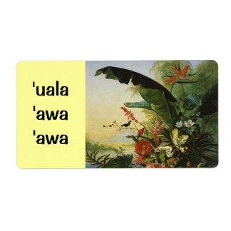 Awa del uala de la etiqueta del brew casero de la  etiquetas de envío