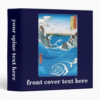 Awa Province, Naruto Whirlpools by Ando Hiroshige 3 Ring Binders