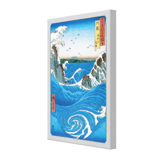 Awa Province, Naruto Whirlpools by Ando Hiroshige Stretched Canvas Prints