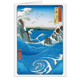 Awa Province, Naruto Whirlpools by Ando Hiroshige Cards