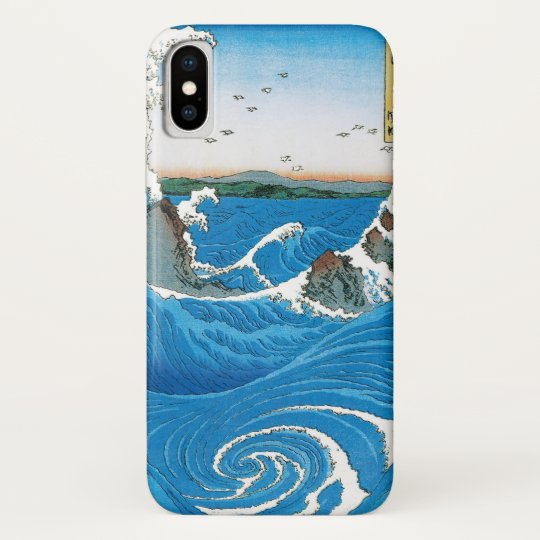 Awa Province, Naruto Whirlpools by Ando Hiroshige iPhone X Case