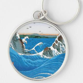 Awa Province, Naruto Whirlpools by Ando Hiroshige Key Chains