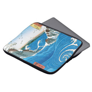 Awa Province, Naruto Whirlpools by Ando Hiroshige Laptop Sleeve
