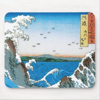 Awa Province, Naruto Whirlpools by Ando Hiroshige Mouse Pad