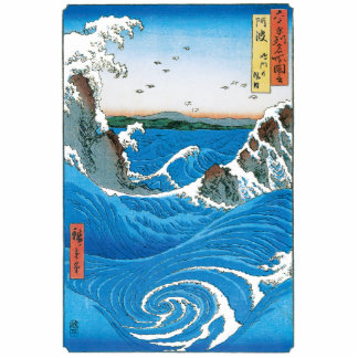 Awa Province, Naruto Whirlpools by Ando Hiroshige Photo Sculptures